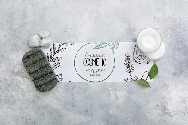 Top view of beauty spa essentials Free Psd