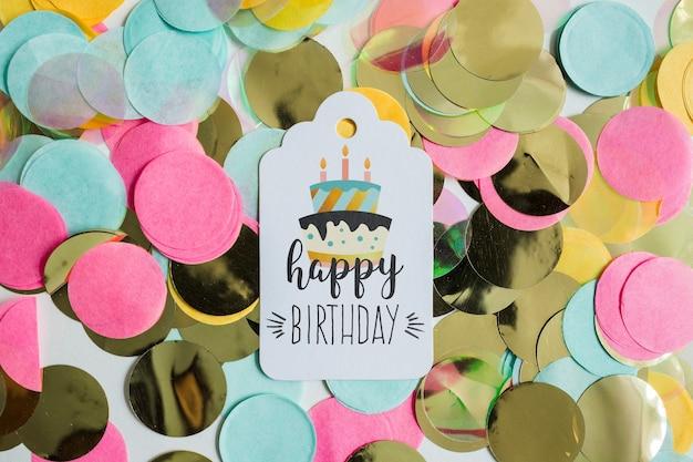 Top view birthday card mockup Free Psd