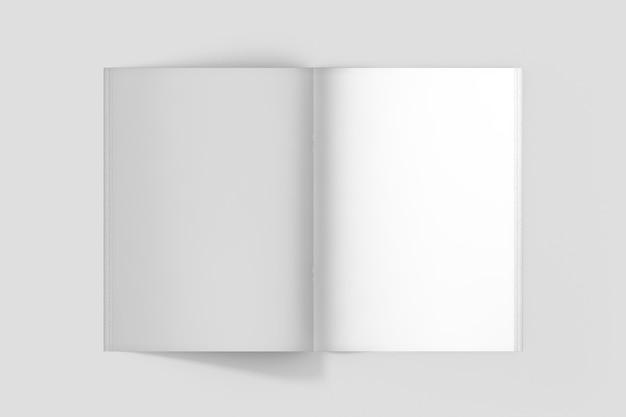 상위 뷰 브로셔 내부 페이지 모형 프리미엄 PSD 파일