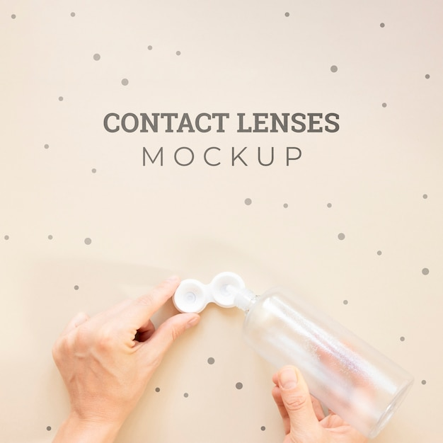 Top view contact lenses mock-up Free Psd