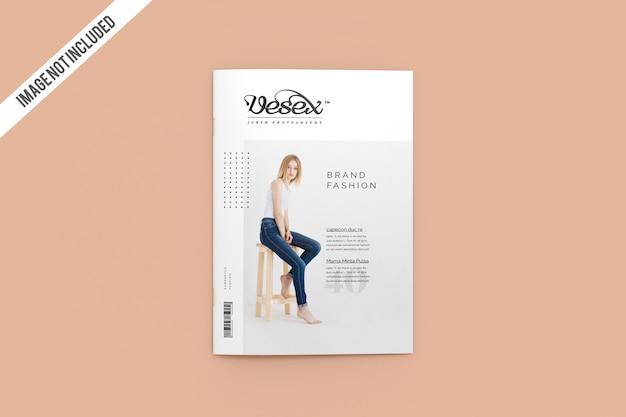 Top view cover magazine mockup Premium Psd