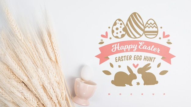 Top view easter mockup composition Free Psd