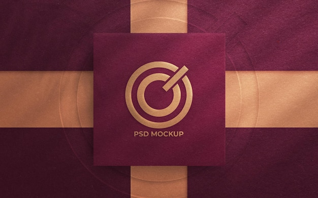 Top view on elegant logo mockup