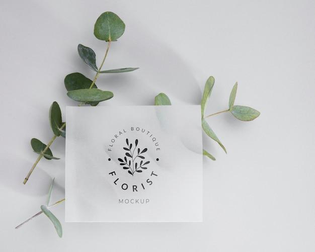 Вид сверху флорист концепт с макетом Бесплатные Psd