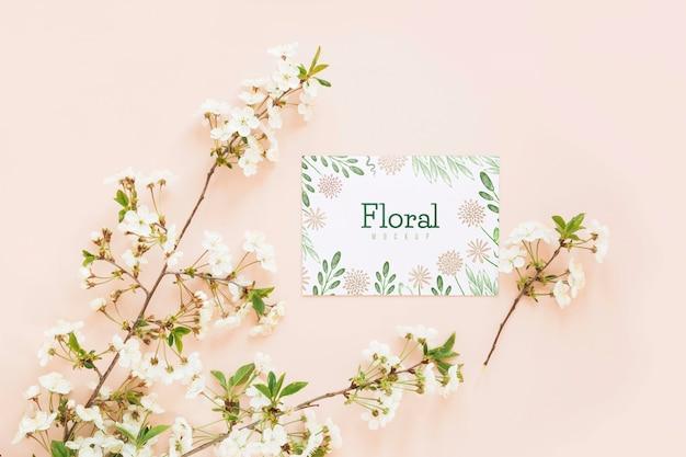 Вид сверху цветы с копией пространства Бесплатные Psd