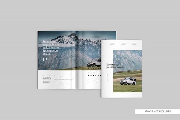 Top view magazine mockup Premium Psd