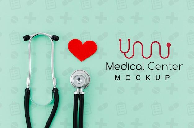 Медицинская концепция вид сверху с макетом Premium Psd