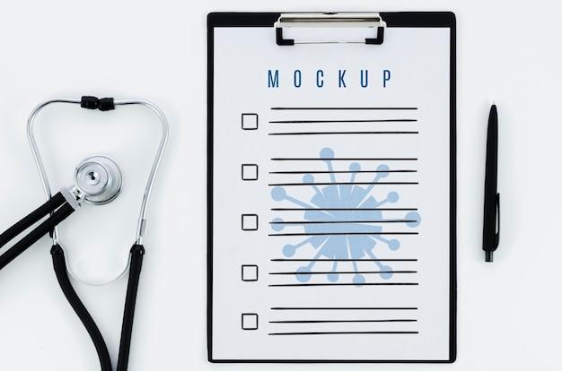 モックアップと平面図医療コンセプト 無料 Psd