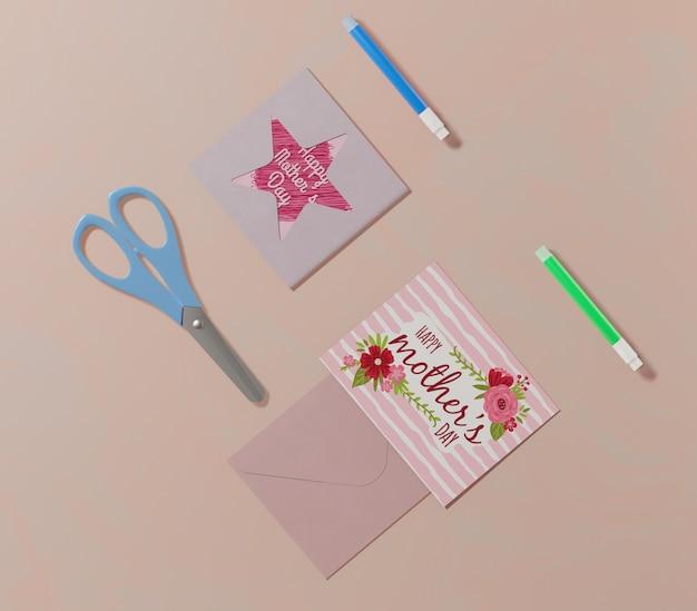 トップビュー母の日グリーティングカード 無料 Psd