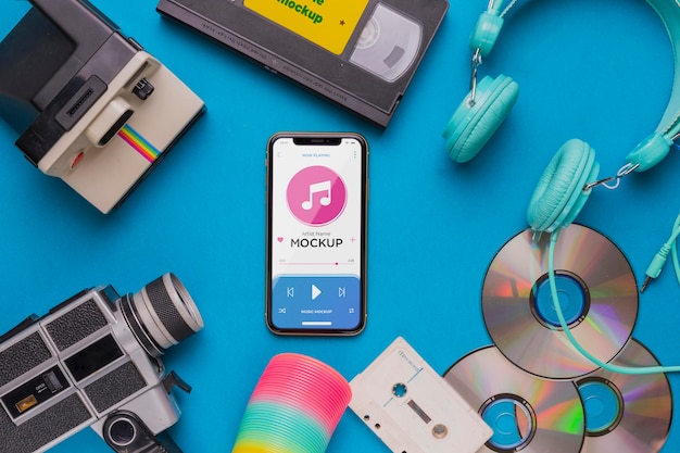 Музыкальная концепция с смартфоном Бесплатные Psd