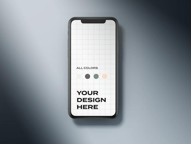상위 뷰 Iphone 11 모형 프리미엄 PSD 파일