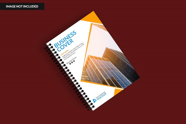 Top view of notebook mockup Premium Psd