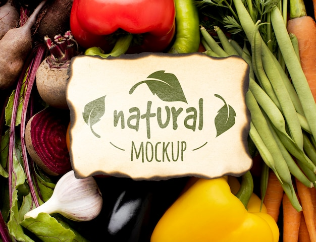 野菜の品揃えの上面図 無料 Psd