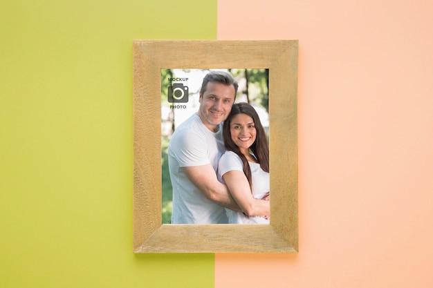 写真用の長方形フレームの上面図 無料 Psd