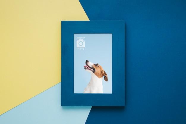 Вид сверху простой рамки для фотографий Premium Psd