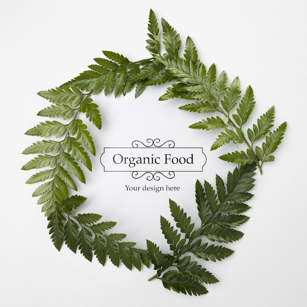 Top view organic food with mock-up concept Free Psd