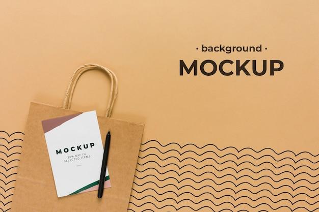 Top viewpaper bag mock-up Free Psd
