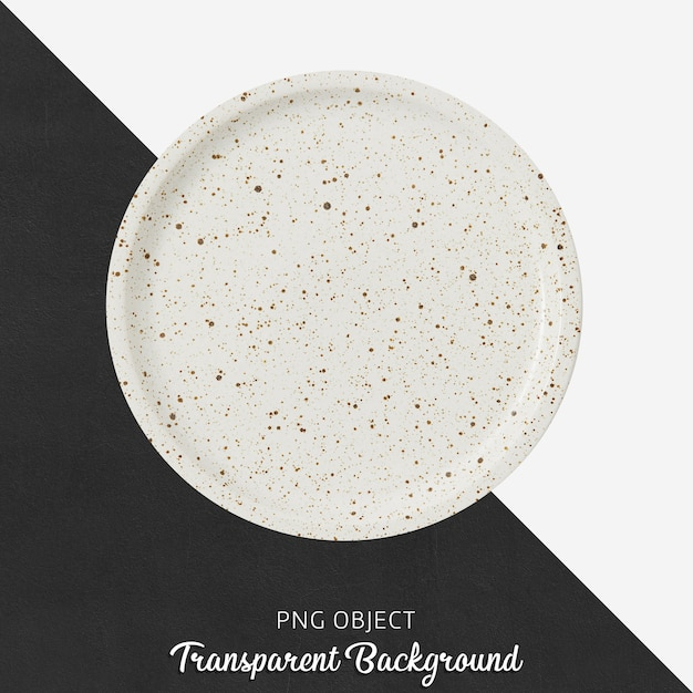 Top view of patterned round white plate mockup Premium Psd