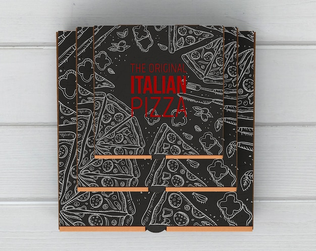 Top view pizza boxes mockup Free Psd