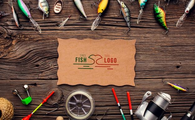 餌付きトップビューロッドと釣りアクセサリー 無料 Psd
