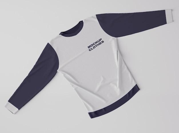Top view of sweatshirt mockup Premium Psd