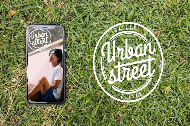 Top view urban street mock-up Free Psd