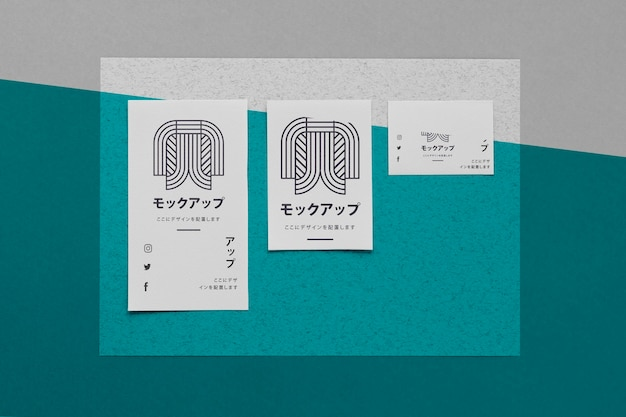 상위 뷰 다양한 아시아 모형 문서 무료 PSD 파일