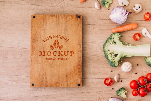Top view vegetables on table Free Psd