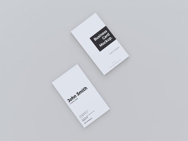 Top view vertical business card mockup Premium Psd