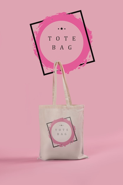 Tote bag with mock-up Premium Psd