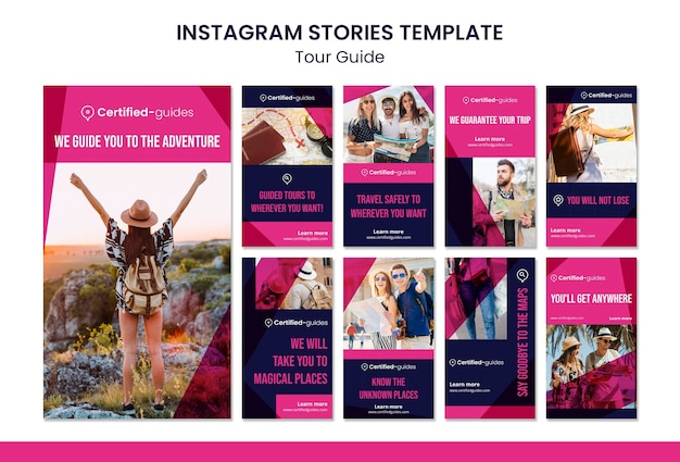 Tour guide instagram stories Premium Psd