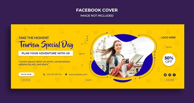 Tourism special day facebook timeline cover and web banner template Premium Psd