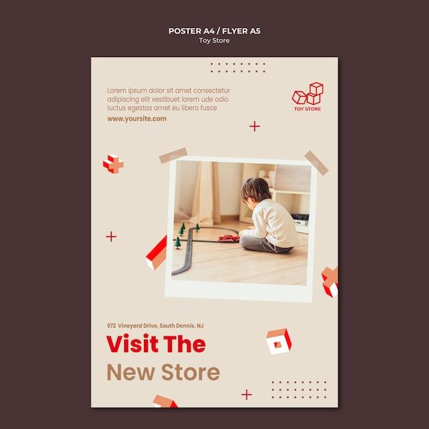 Плакат для магазина игрушек Бесплатные Psd