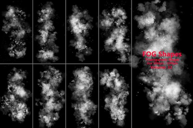Transparent background fog smoke Premium Psd