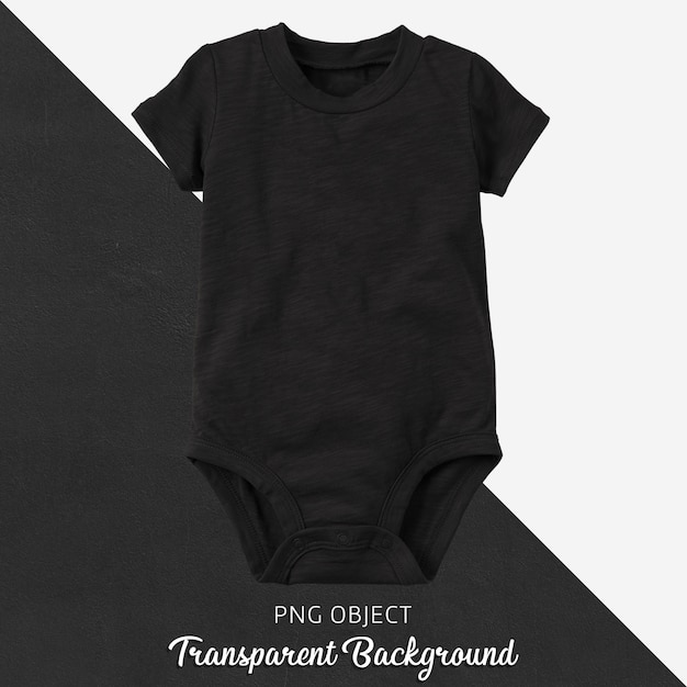 Прозрачный черный боди для малыша или детей Premium Psd