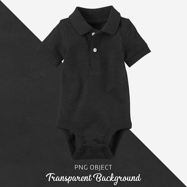 Прозрачный черный поло футболка комбинезон, боди для ребенка или детей Premium Psd