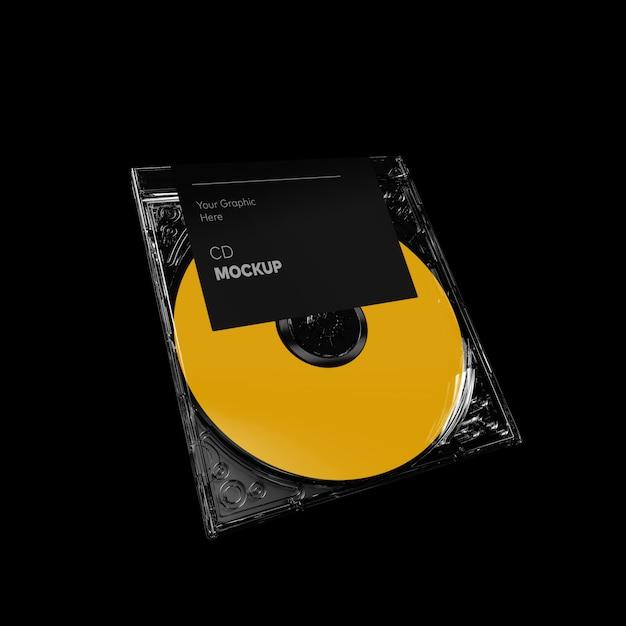 Прозрачный компакт-диск перспектива макет Premium Psd