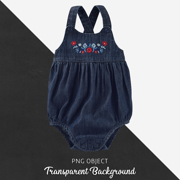 Прозрачный джинсовый комбинезон для ребенка или детей Premium Psd