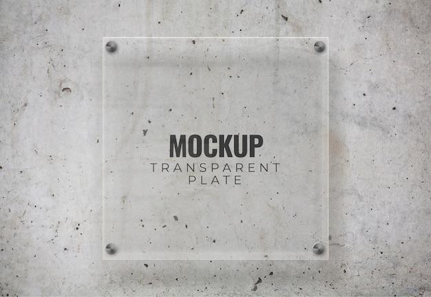 Transparent plate mockup Free Psd