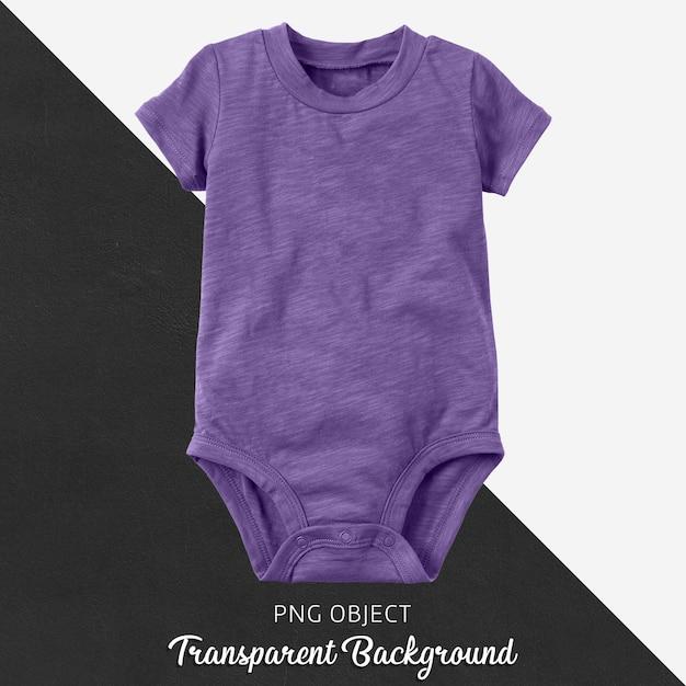 Прозрачный фиолетовый боди для ребенка или детей Premium Psd