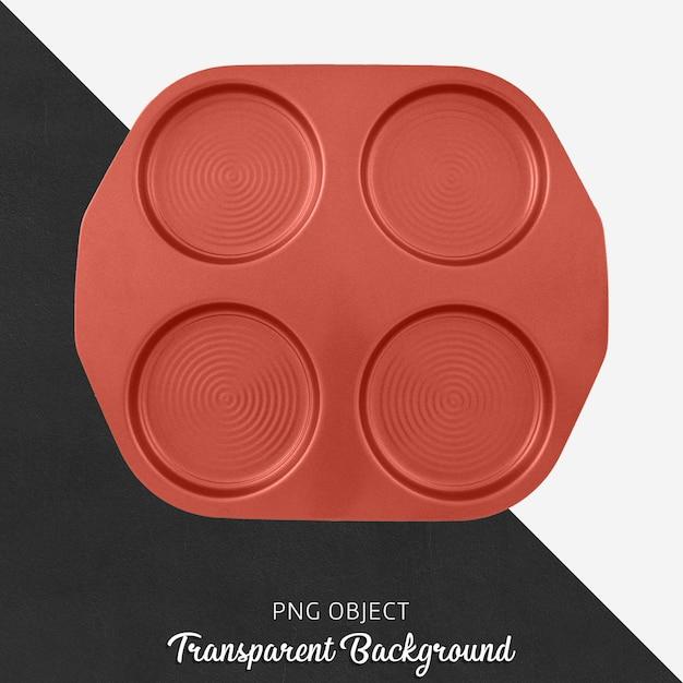 Transparent red round pancake tray Premium Psd