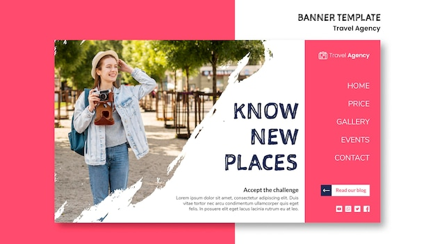 Travel agency banner Free Psd