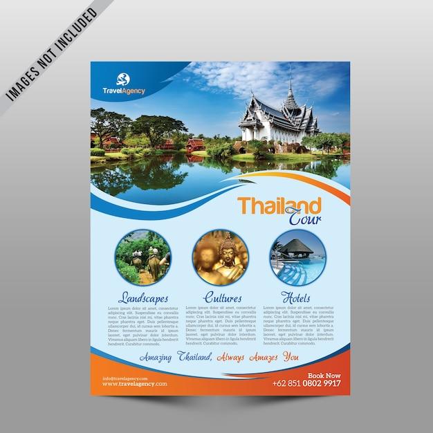 Travel agency cover Premium Psd
