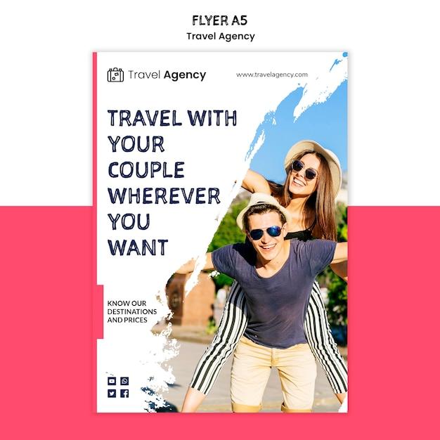 Travel agency flyer Free Psd