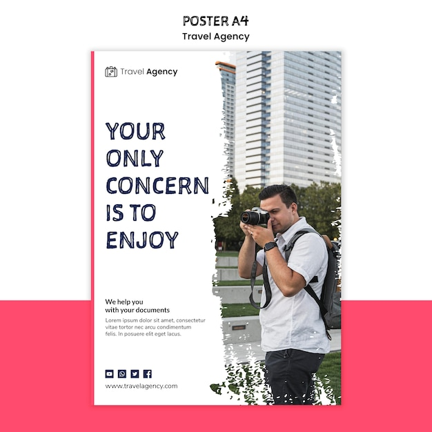Travel agency poster theme Free Psd