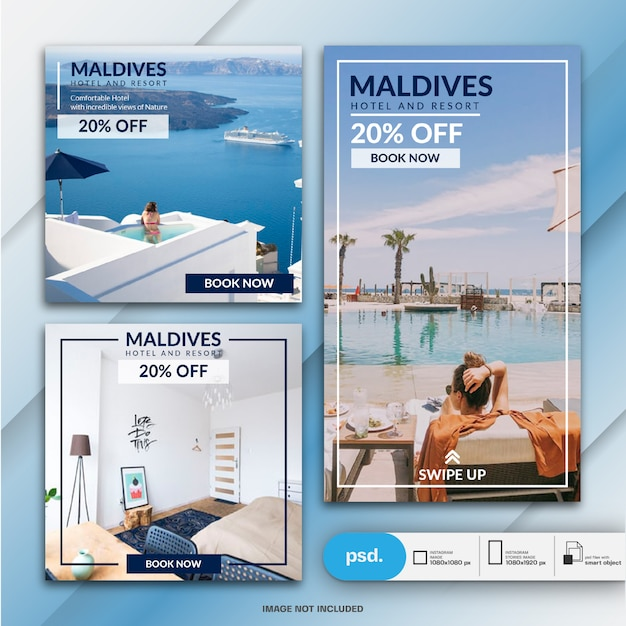 Travel banner collection Premium Psd