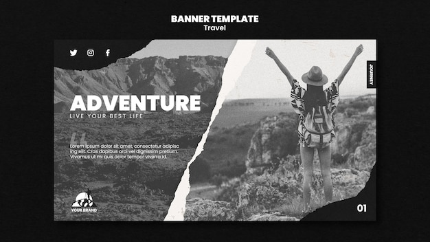 Travel banner template Free Psd