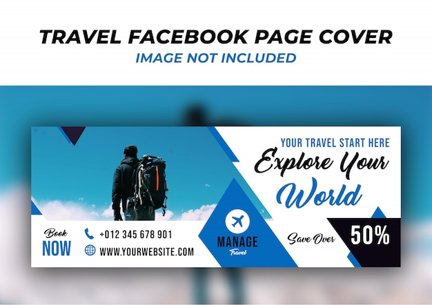 Travel facebook timeline cover banner  template Premium Psd