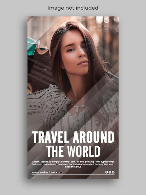 Travel instagram social media story Premium Psd