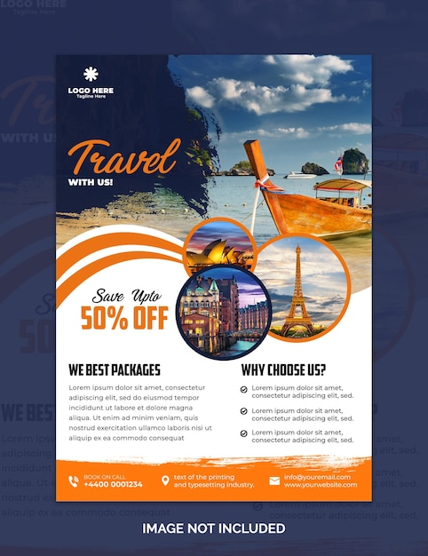 Travel sale flyer design Premium Psd